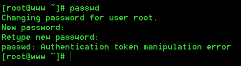 "Linux 密码修改报错 ""Authentication token manipulation error"" 的解决方法"